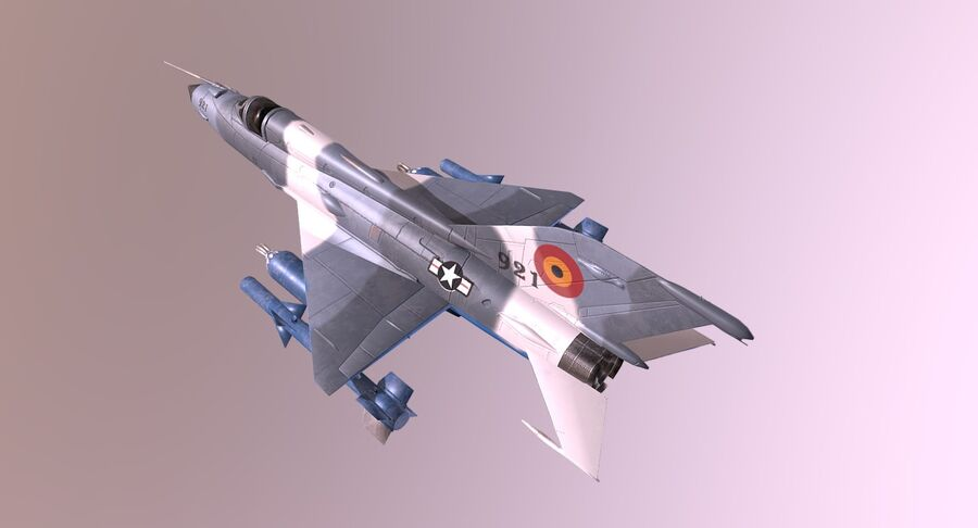 MiG 21-Rigged & Animated-인테리어 포함-M3 royalty-free 3d model - Preview no. 7