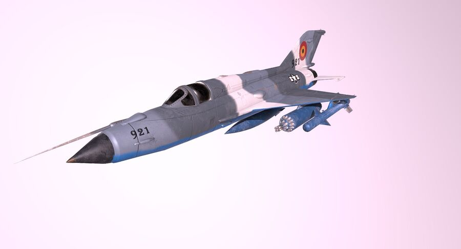 MiG 21-Rigged & Animated-인테리어 포함-M3 royalty-free 3d model - Preview no. 8