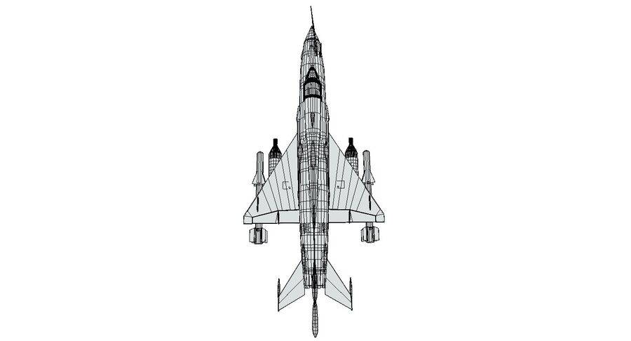 MiG 21-Rigged & Animated-인테리어 포함-M3 royalty-free 3d model - Preview no. 13