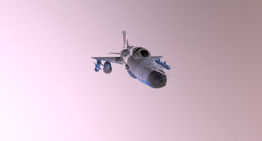 MiG 21-Rigged & Animated-인테리어 포함-M3 royalty-free 3d model - Preview no. 9