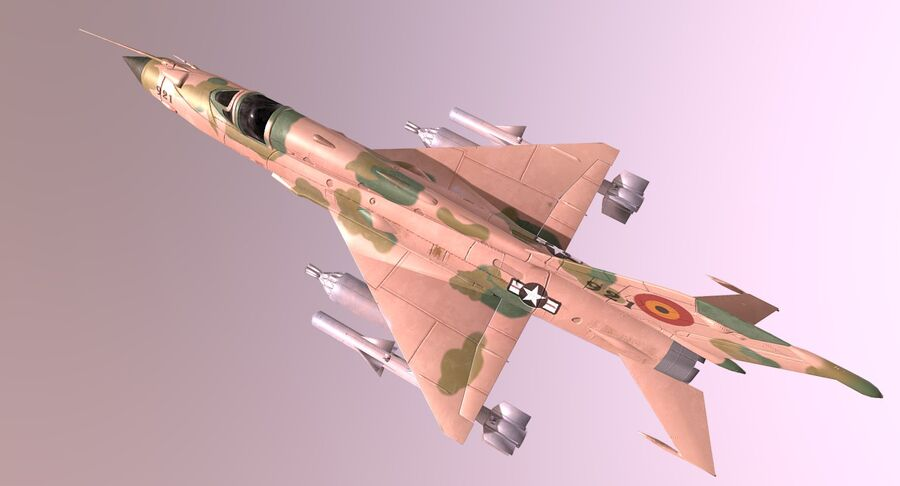MiG 21-Rigged & Animated-인테리어 포함-M4 royalty-free 3d model - Preview no. 6