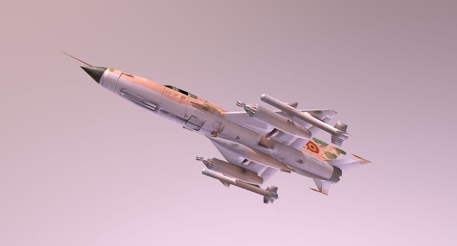 MiG 21-Rigged & Animated-인테리어 포함-M4 royalty-free 3d model - Preview no. 7