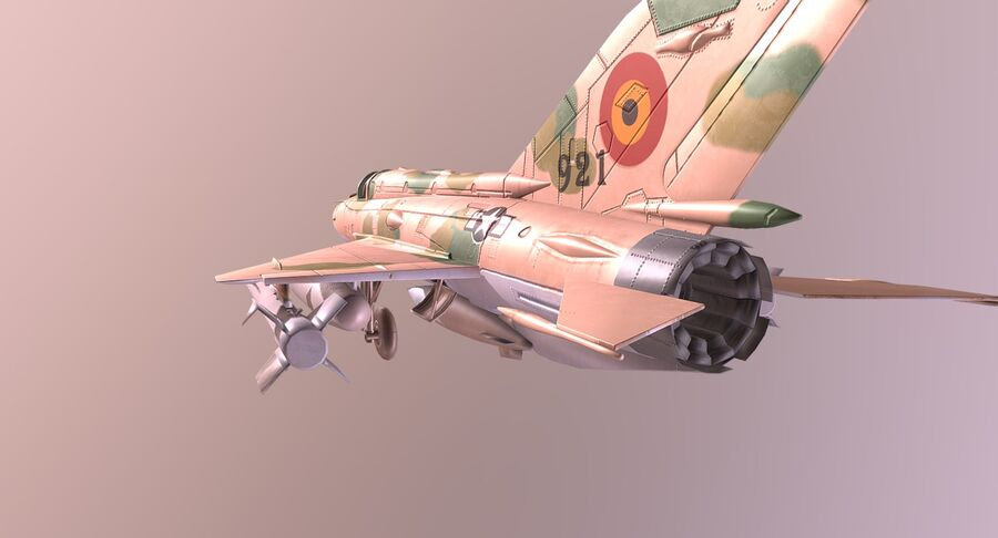 MiG 21-Rigged & Animated-인테리어 포함-M4 royalty-free 3d model - Preview no. 4