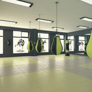 Kickbox-Fitnessstudio 3d model