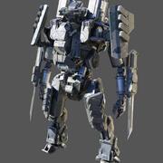 科幻士兵低聚 3d model