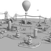 Cartoon Clay City 3d model