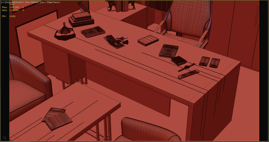 boss office royalty-free 3d model - Preview no. 7
