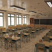 Podwójne biurko Classroom 3d model