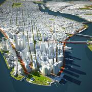 뉴욕시 3 3d model