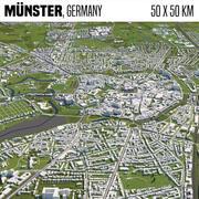 Muenster Germania 50x50km 3d model