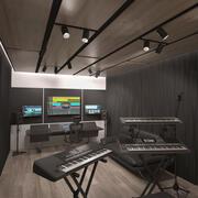 Set da studio musicale 3d model