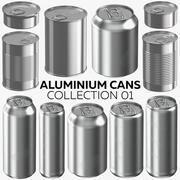 铝罐系列01-19产品 3d model