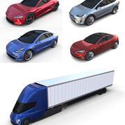 Tesla Pack (Semi Roadster Modelo SX 3) 3d model