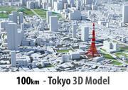 Tokyo 3D-stad - 100 km 3d model