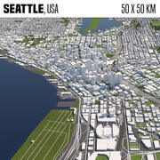 Seattle 50x50km 3d model