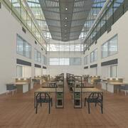 Büro Industrie 3d model