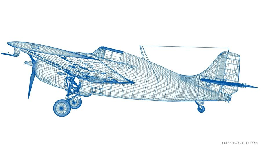 Grumman F4f 3 Wildcat F26 3d Model 189 Obj Lwo Fbx Blend Free3d
