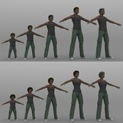 5 + 5 mänsklig 01 3d model