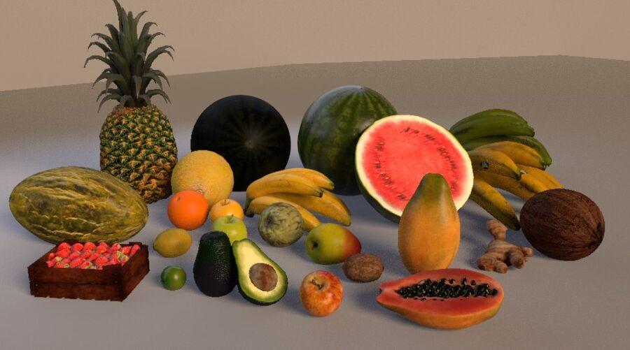 frutta royalty-free 3d model - Preview no. 2