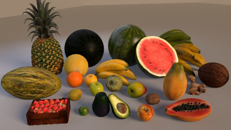 frutta royalty-free 3d model - Preview no. 1