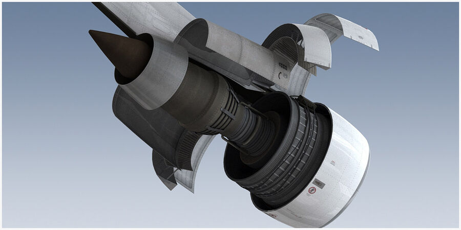 Commercial Aircraft Engine royalty-free 3d model - Preview no. 10