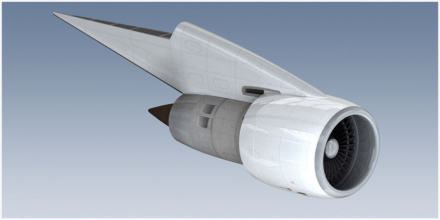 Commercial Aircraft Engine royalty-free 3d model - Preview no. 4