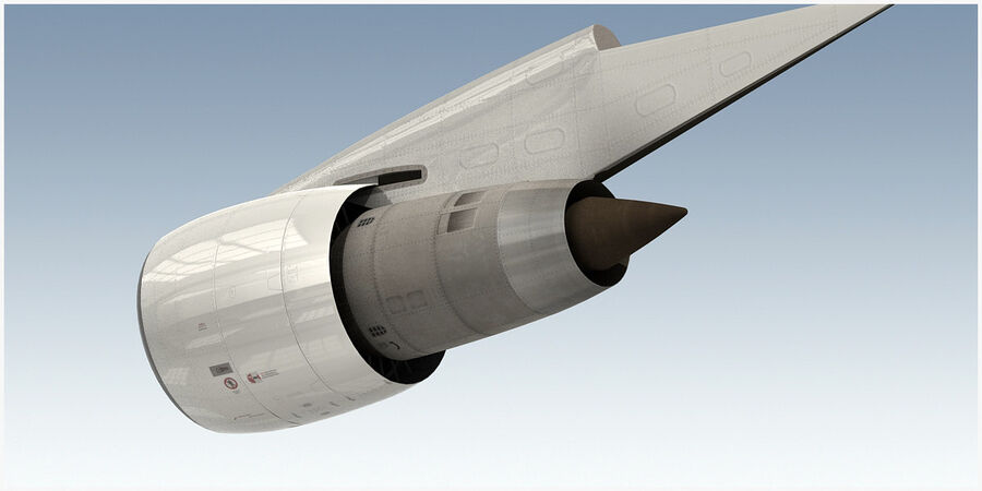 Commercial Aircraft Engine royalty-free 3d model - Preview no. 3