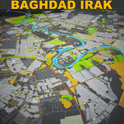 Skyline von Bagdad im Irak 3d model