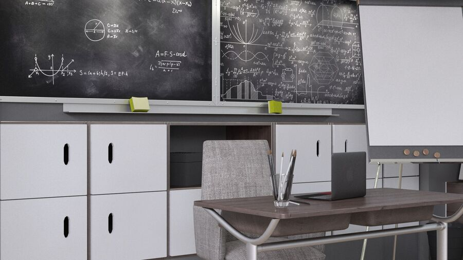 Classroom Pro royalty-free 3d model - Preview no. 7