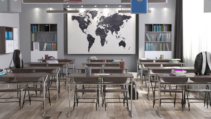 Classroom Pro royalty-free 3d model - Preview no. 3