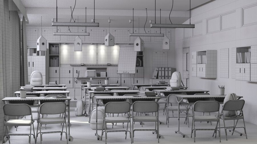 Classroom Pro royalty-free 3d model - Preview no. 9