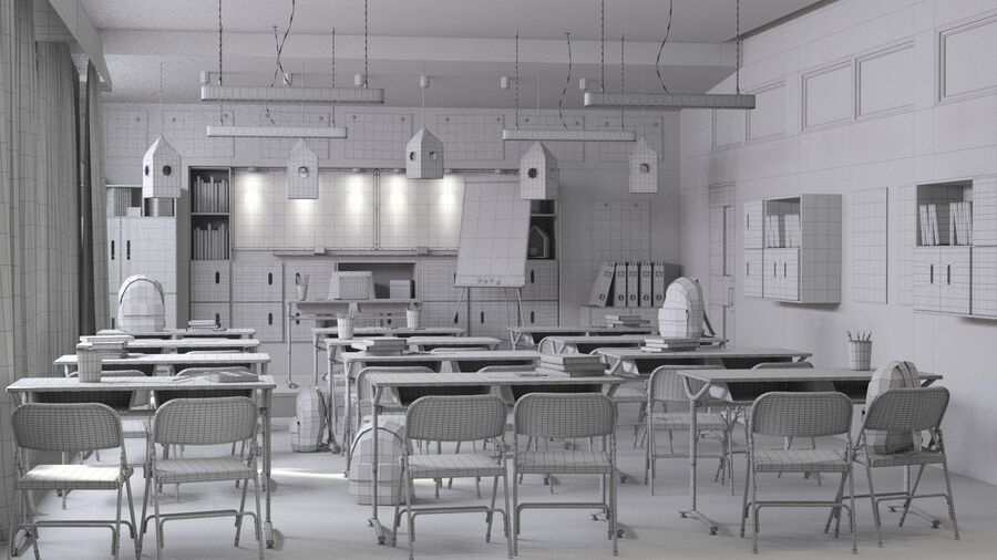 Classroom Pro royalty-free 3d model - Preview no. 8
