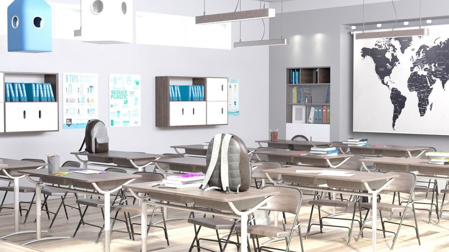 Classroom Pro royalty-free 3d model - Preview no. 4