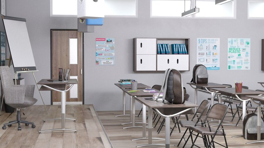 Classroom Pro royalty-free 3d model - Preview no. 5