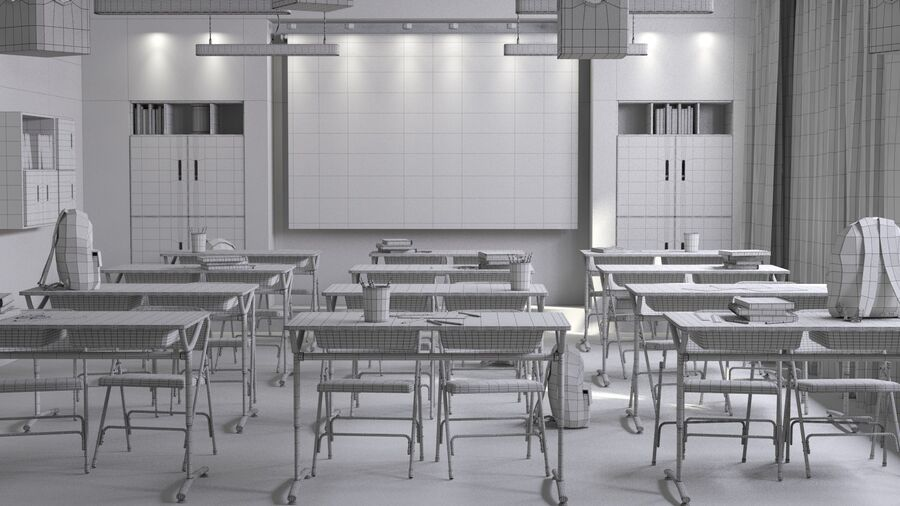 Classroom Pro royalty-free 3d model - Preview no. 10