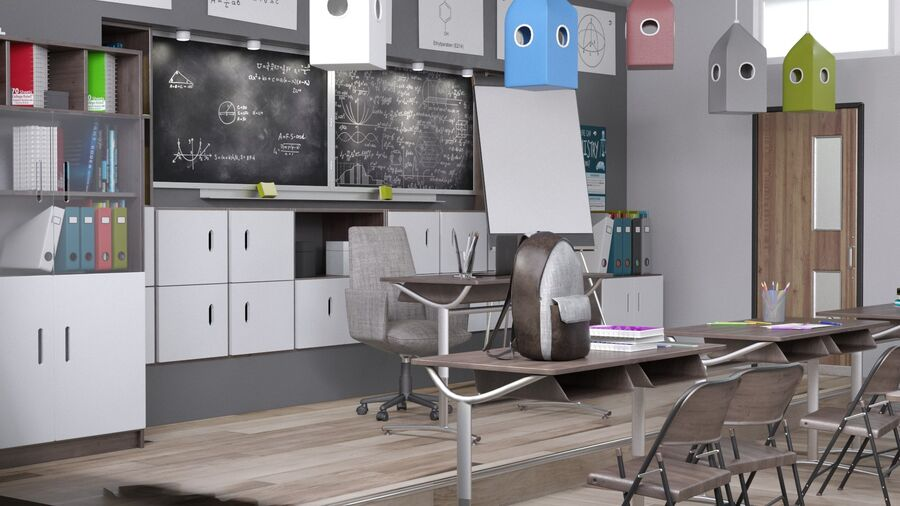 Classroom Pro royalty-free 3d model - Preview no. 6