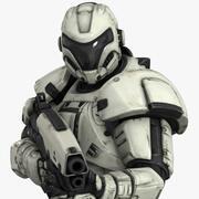 Postać Soldier 01 Lite 3d model