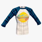 Raglan T-Shirt Men 3d model
