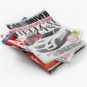 Set di riviste 9 3d model