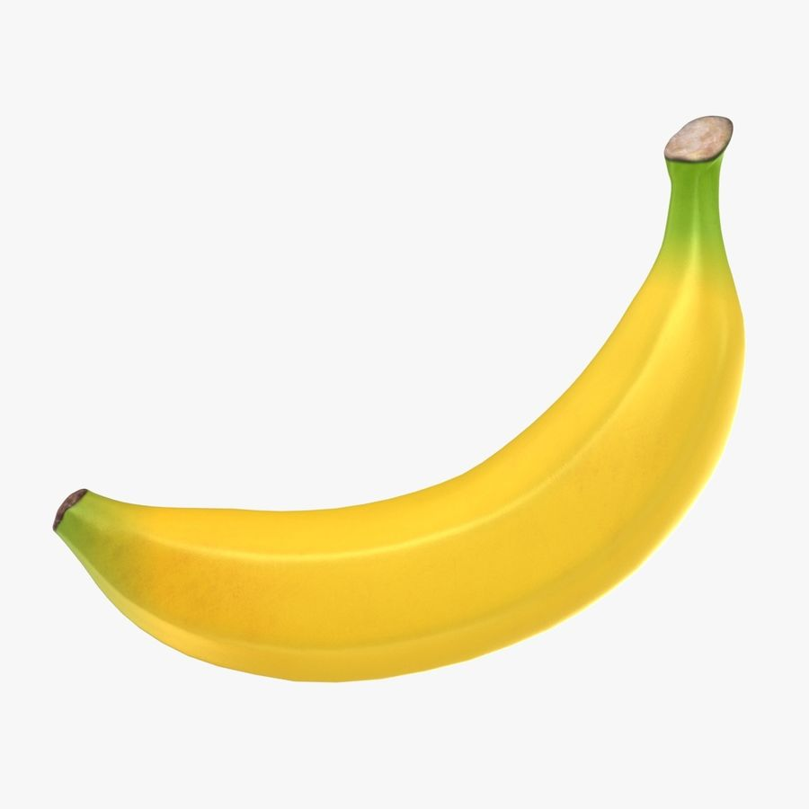 Plátano royalty-free modelo 3d - Preview no. 1