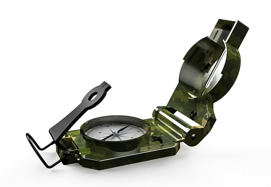 Compasso Lensatic royalty-free 3d model - Preview no. 4