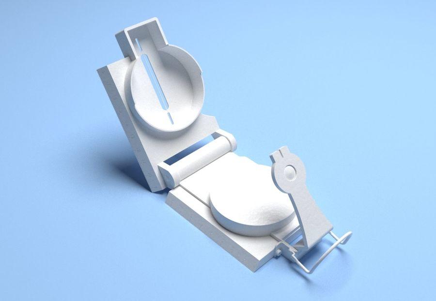 Compasso Lensatic royalty-free 3d model - Preview no. 5