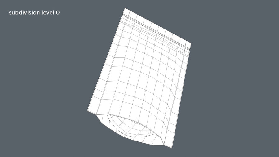 Paper Sachet royalty-free 3d model - Preview no. 10