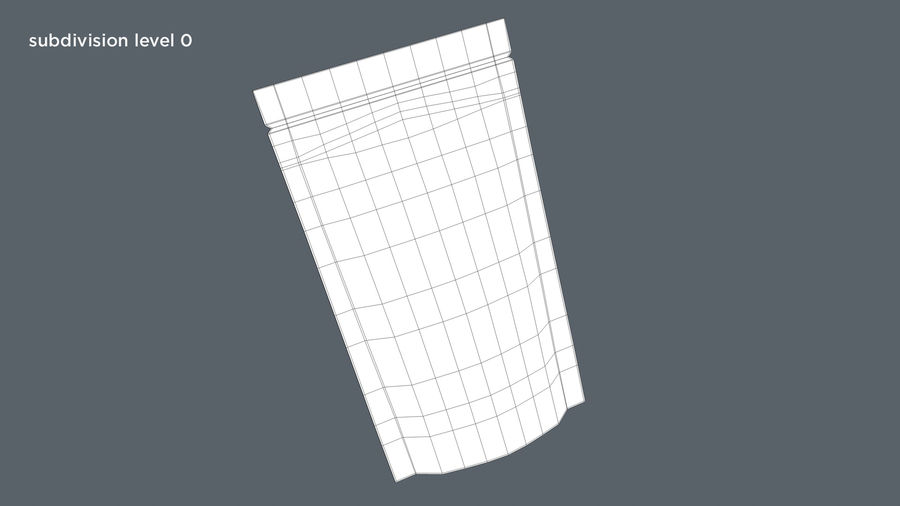 Paper Sachet royalty-free 3d model - Preview no. 12