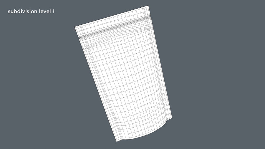 Paper Sachet royalty-free 3d model - Preview no. 13