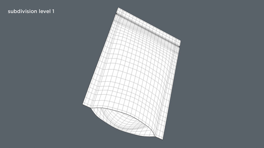 Paper Sachet royalty-free 3d model - Preview no. 11