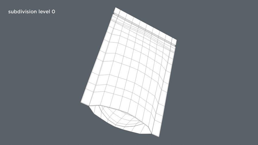 White Paper Sachet royalty-free 3d model - Preview no. 8