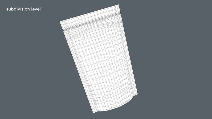 White Paper Sachet royalty-free 3d model - Preview no. 11