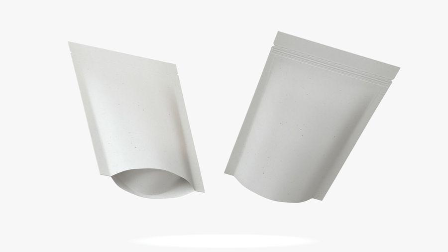 White Paper Sachet royalty-free 3d model - Preview no. 5