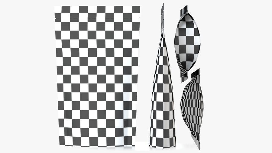 White Paper Sachet royalty-free 3d model - Preview no. 7